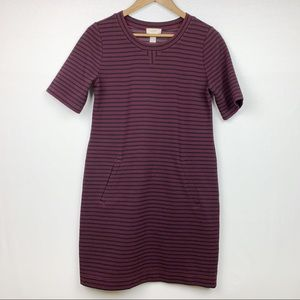 Loft Short Sleeve Sweater Dress Front Pockets